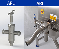 ARU and ARL reject valves for pipeline applications