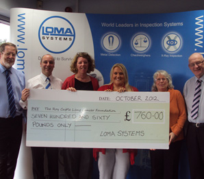 Roy Castle Lung Cancer Charity Donation by Loma Systems